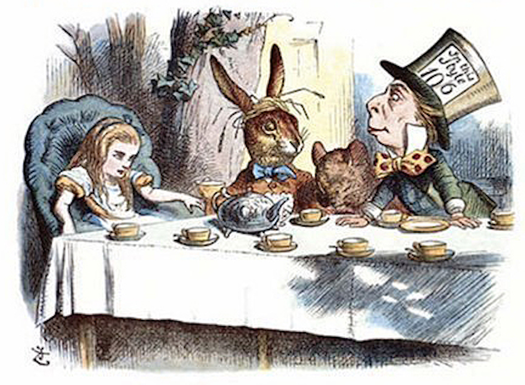 John_Tenniel-_Alice's_mad_tea_party,_colour