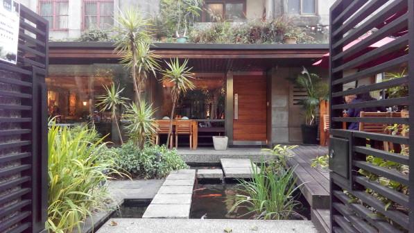 餐廳的庭園其實源自美援時代設計的院落