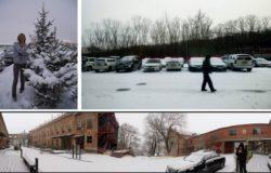 在戰鬥民族家鄉看雪