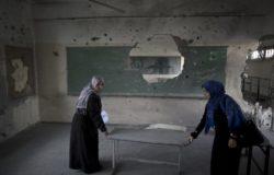 PALESTINIAN-ISRAEL-GAZA-UN-SCHOOL