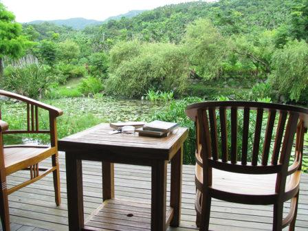 旅途中最愜意的是待在民宿裡喝茶看書、隨意聊天。