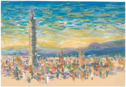 城市寫生社團中四位畫家──王逸蘭、阿力、黃旭輝、橘枳──從初稿出發,加上自己的詮釋方式,以各自擅長的風格繪製成書。